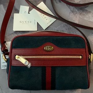 Gucci Ophidia Small Suede Leather Cross